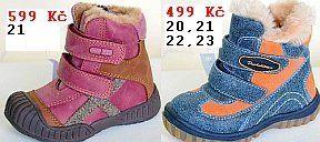 Zimní dětská obuv protetika